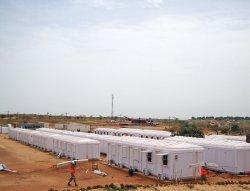 Installatie van Elementenbouw Management Cabines, uitgevoerd in Senegal