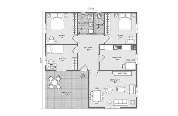123 m2 Modulair huis