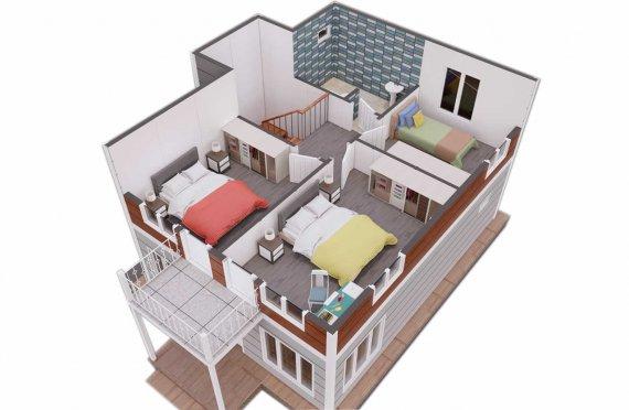 126 m2 Geprefabriceerd huis
