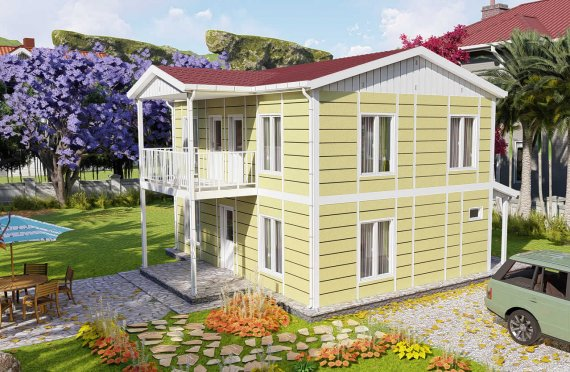 128 m2 Geprefabriceerd huis
