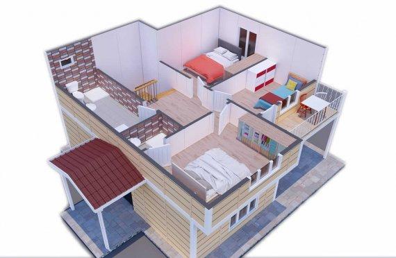 137 m2 Geprefabriceerd huis