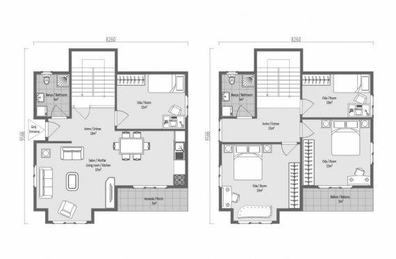 138 m2 Geprefabriceerd huis