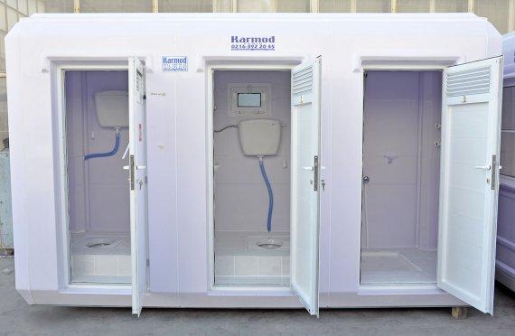 150x390 Verplaatsbare Toilet & Douche Cabine