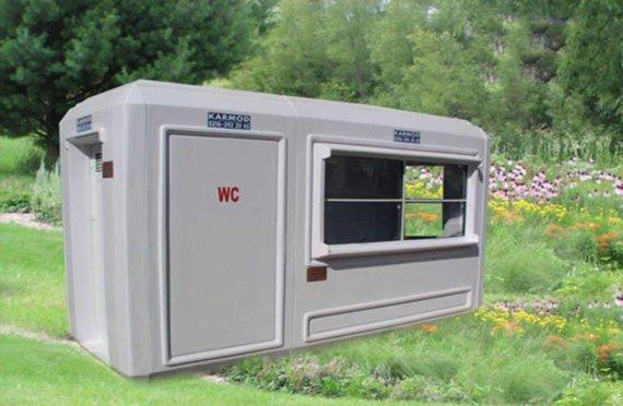 150x390 Verplaatsbaar toilet & Beveiligingshokje