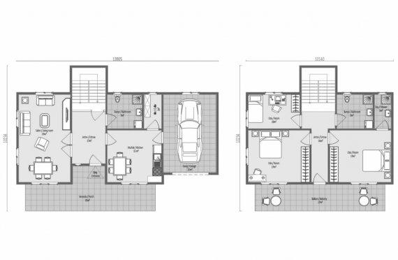 196 m2 Geprefabriceerd huis