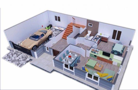 206 m2 Geprefabriceerd huis