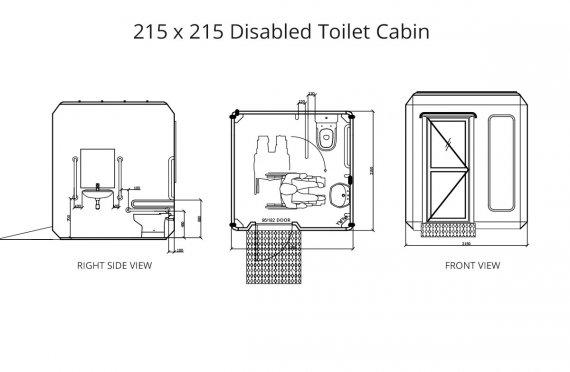 215x215 Verplaatsbaar Invalide Toilet Cabine
