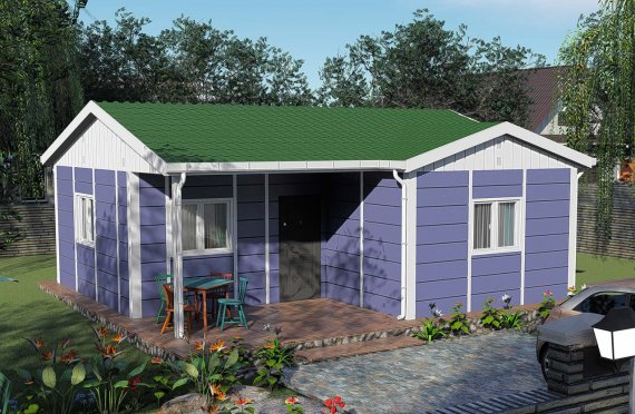 51 m2 Modulair huis