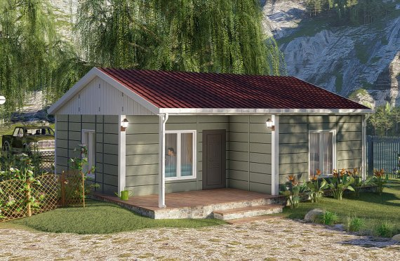 64 m2 Modulair huis