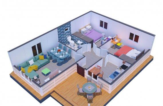 73 m2 Modulair huis