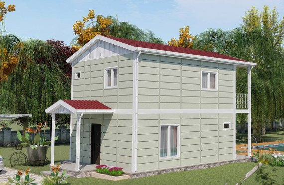 91 m2 Geprefabriceerd huis