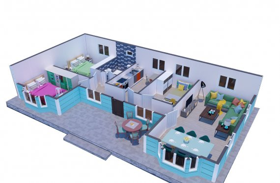 97 m2 Modulair huis