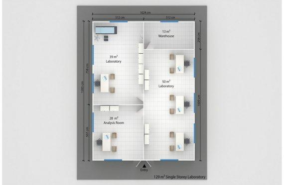 Elementenbouw Laboratorium 129m²