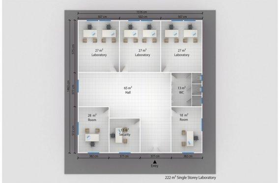 Elementenbouw Laboratorium 222m²