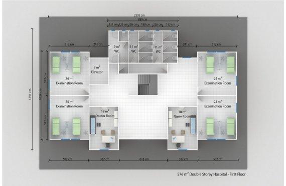 Elementenbouw Ziekenhuis 576m²