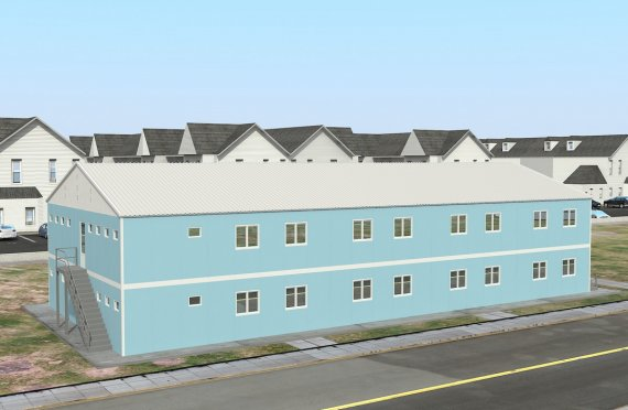 Elementenbouw Accommodatie Eenheid 736m²