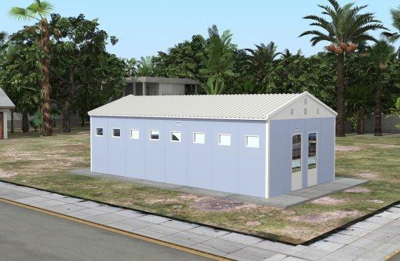 Geprefabriceerde WC & Douchegebouw 52m²