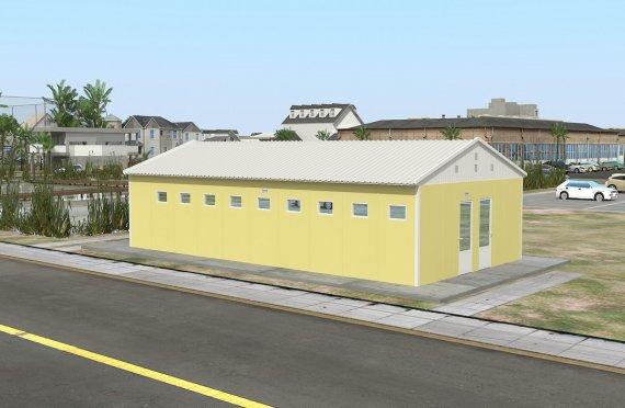 Geprefabriceerde WC & Douchegebouw 82m²