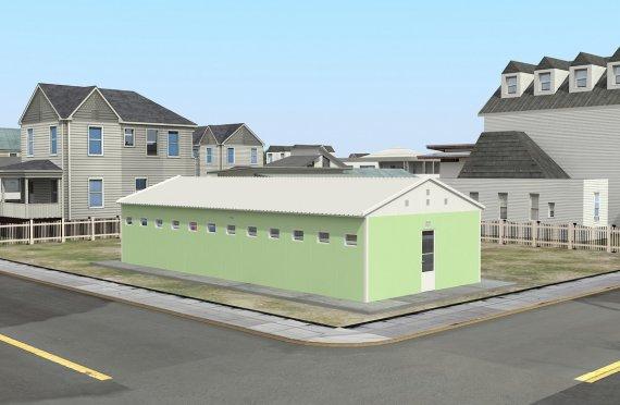 Geprefabriceerde toilet & Douchegebouw 97m²