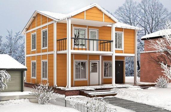 Geprefabriceerde huis 112m²