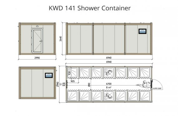 KWD 141 Douche Container