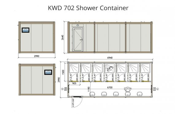KWD 702 Douche Container