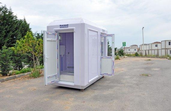 150x270 verplaatsbaar toilet & Beveiligingshokje