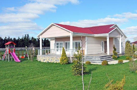 Gelijkvloerse geprefabriceerde huizen
