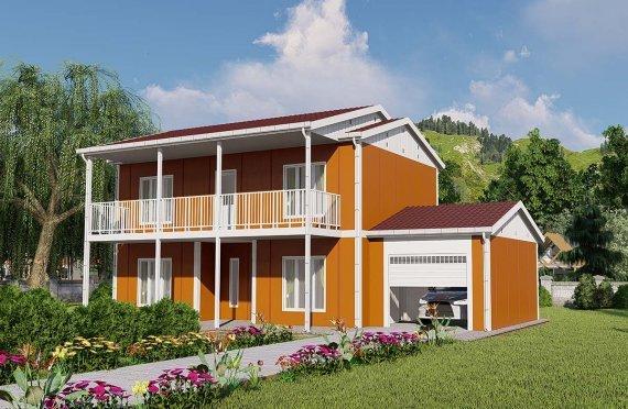 Geprefabriceerde huizen met twee verdiepingen