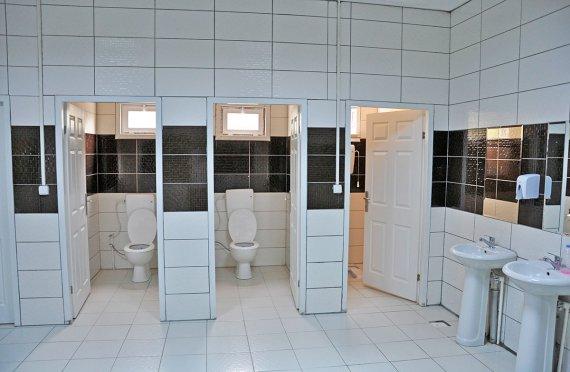 Geprefabriceerde wc- en douchegebouwen
