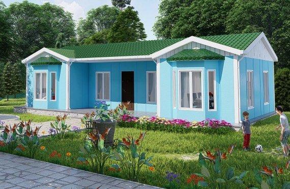 Modulaire huizen met één verdieping