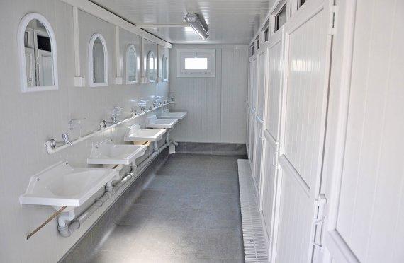 WC & douche-  Sanitaire voorzieningen container