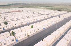 Containerwoningproject voor Syrische vluchtelingen