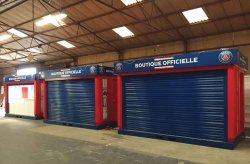 Karmod heeft winkelkiosken geproduceerd voor voetbalclub Paris Saint Germain