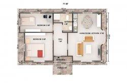 Geprefabriceerde Benedenverdieping Huizen - Plannen