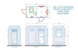Sanitaire Cabines - Plannen